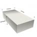 Batch of foams block: x3 sheets 2000x1000x450 mmColors: White